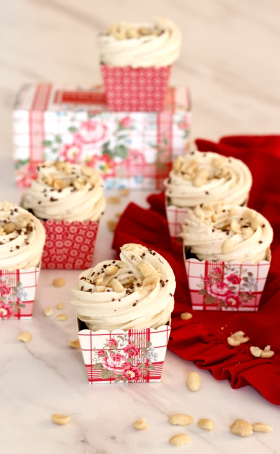 chocolate cola cupcakes & peanut frosting by petite homemade